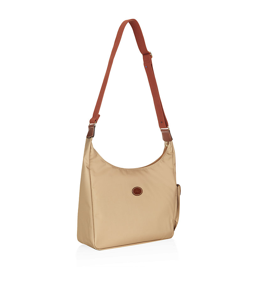 Longchamp Le Pliage Hobo Bag in Brown | Lyst