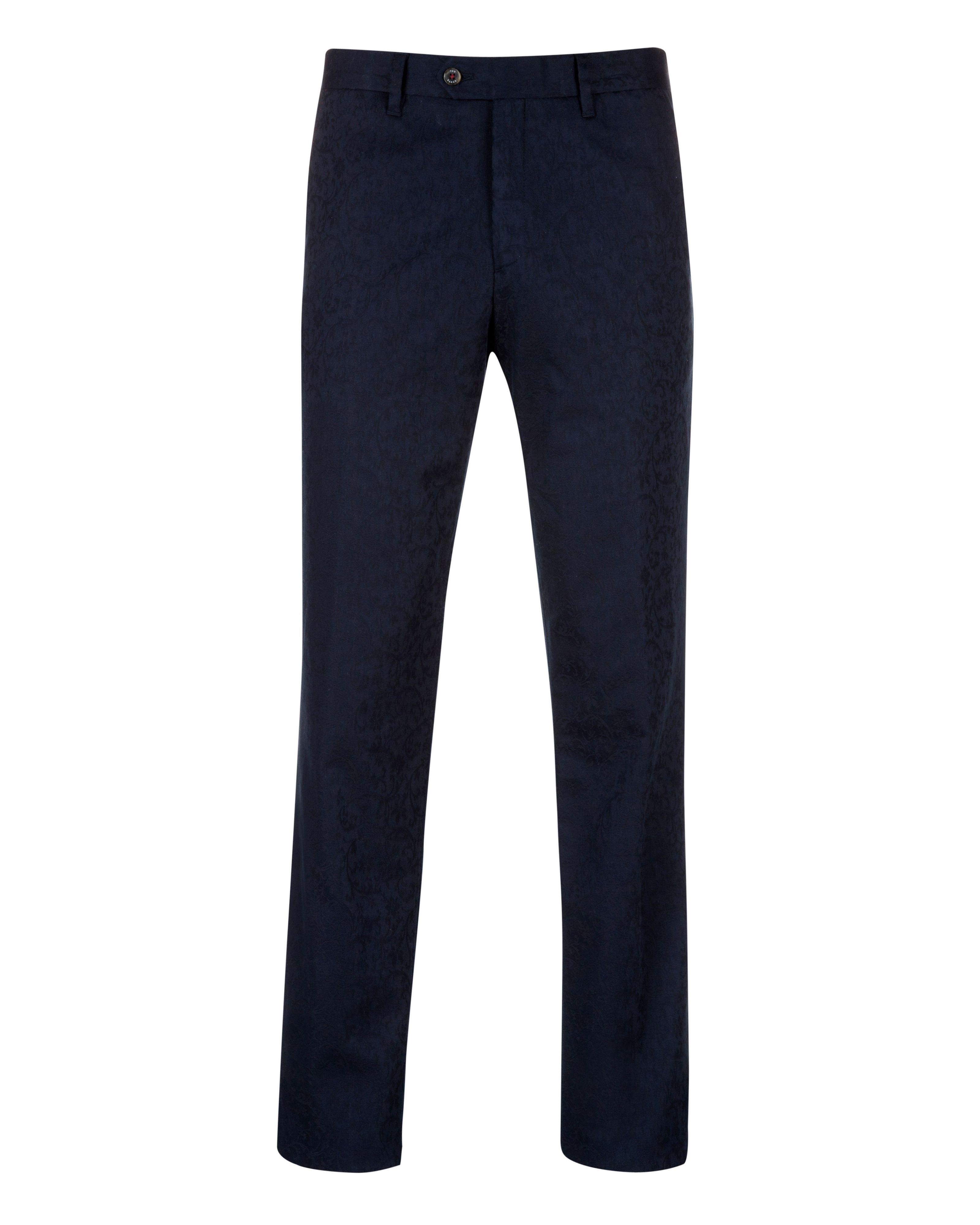 Ted Baker Cotton Aldtro Jacquard Trouser in Navy (Blue) for Men