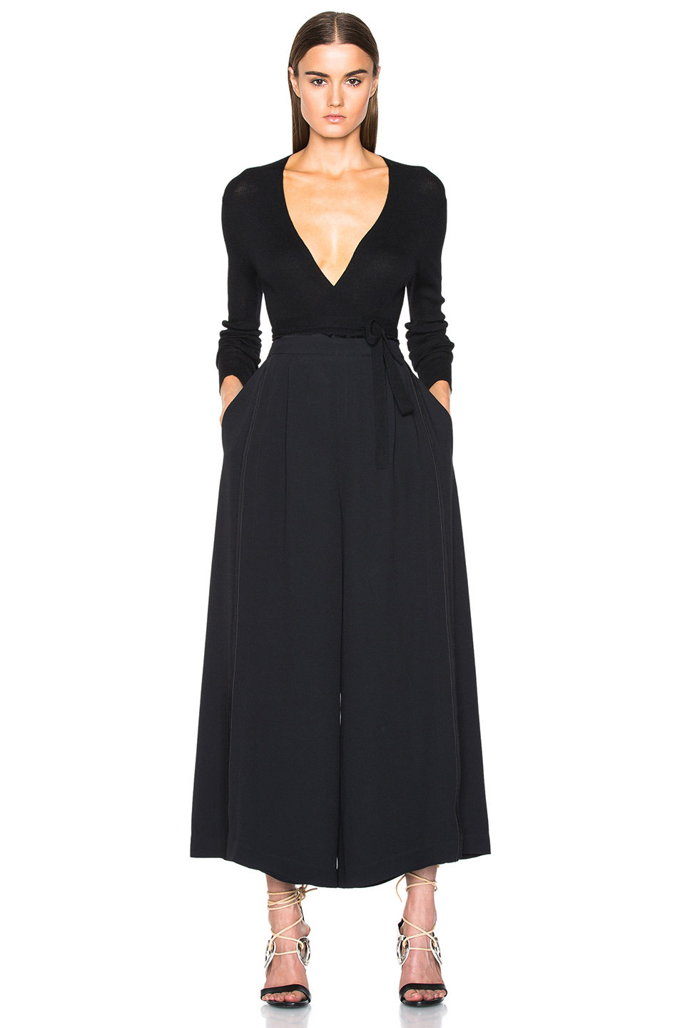 Proenza schouler Satin Back Crepe Wide Leg Pants in Black | Lyst