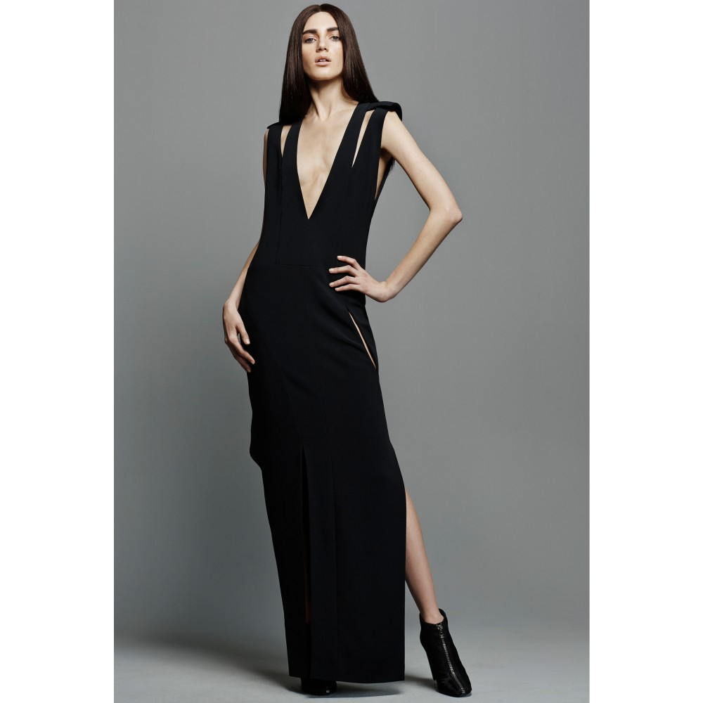 Lyst - Tom Ford Cut-out Crepe Gown in Black