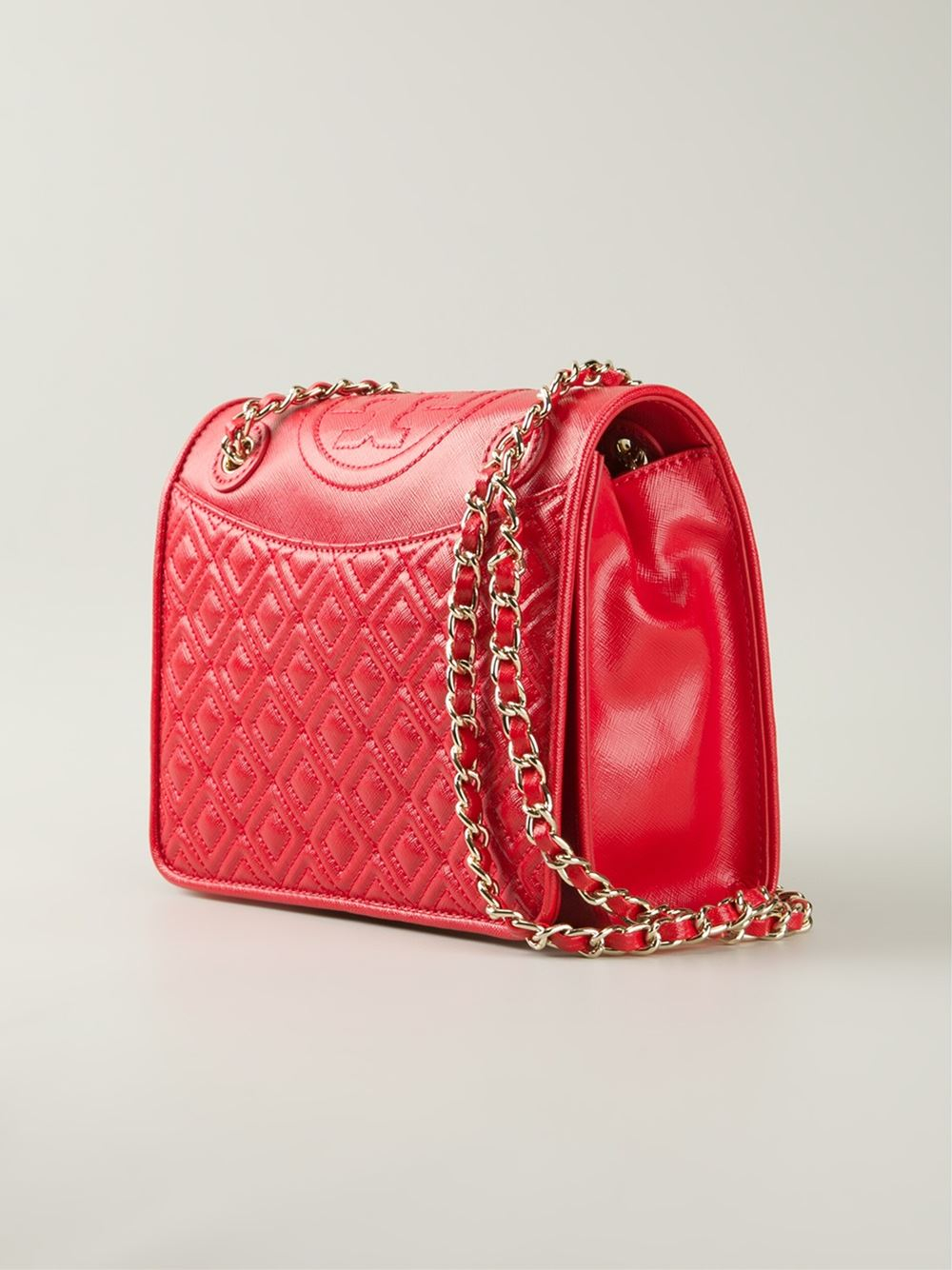 tory burch quilted crossbody bag in red lyst