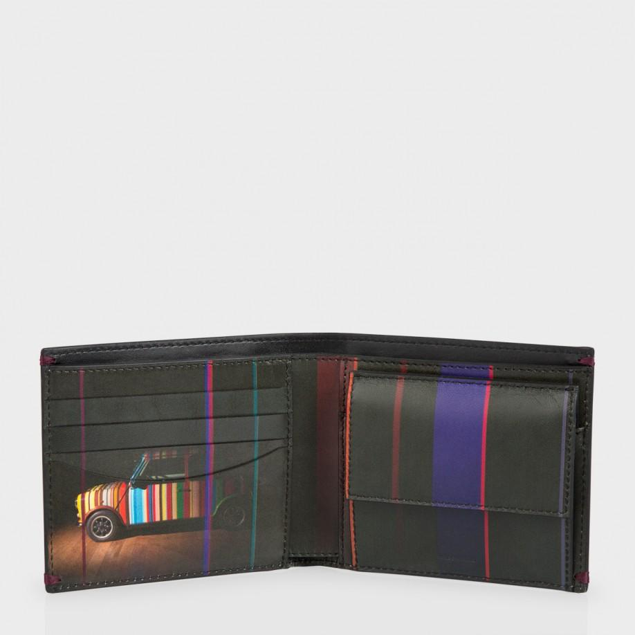 Paul Smith Men 39 S Black Leather 39 Mini Graphic Edge 39 Print Interior Billfold And Coin Wallet In