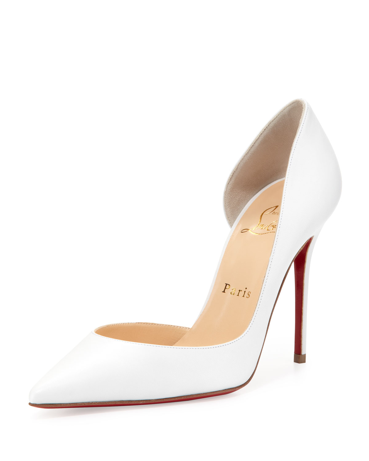 487f459a7c Christian Louboutin Iriza Red Sole Half-d'orsay Pump in Red - Lyst