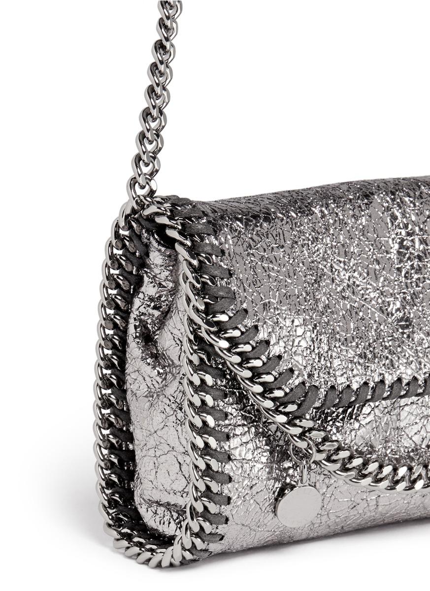 a83584fe07429 Stella McCartney  falabella  Mini Metallic Crossbody Bag in Metallic ...