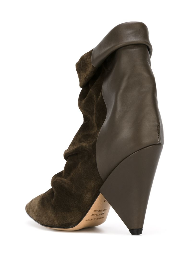 Isabel Marant Andrew Suede and Leather Boots in Brown