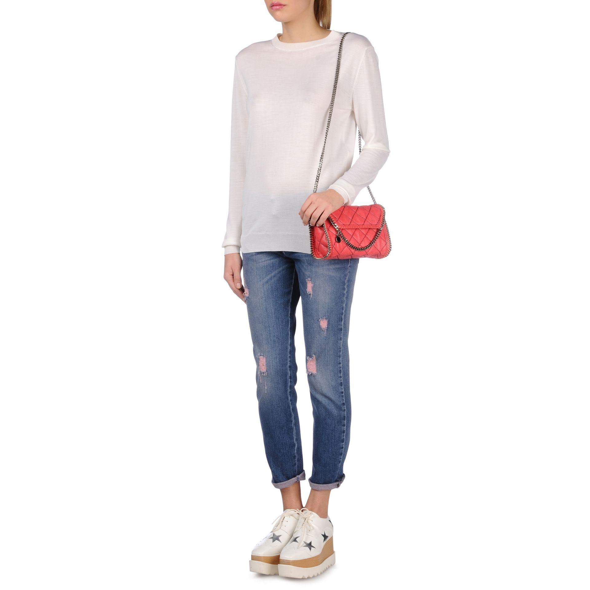 Lyst - Stella McCartney Falabella Quilted Mini Bag in Pink 3d6556e7cc3d6