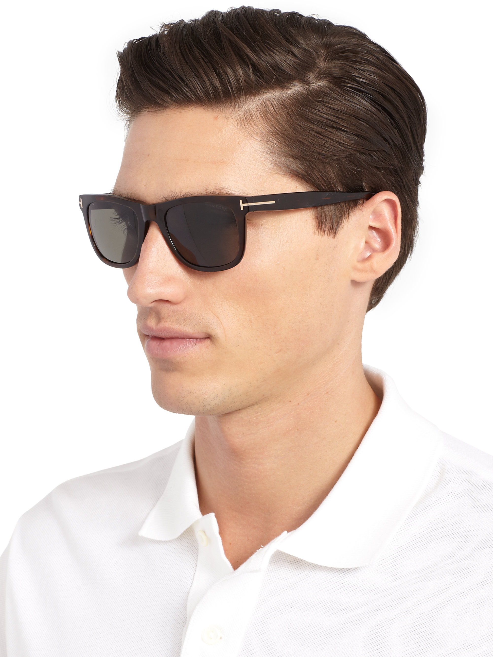 a031a1cbf6 Tom Ford Men s Havana Polarized Sunglasses - Wood in Black for Men ...