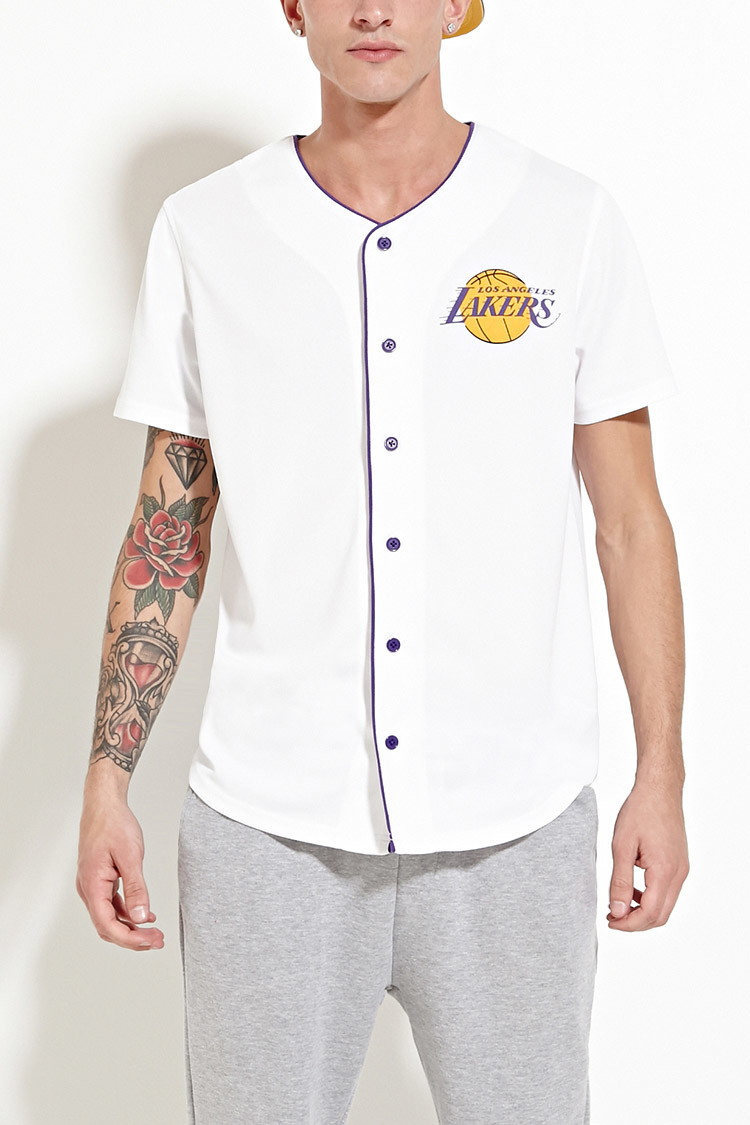 Forever 21 Synthetic Los Angeles Lakers Jersey in White/Purple ...
