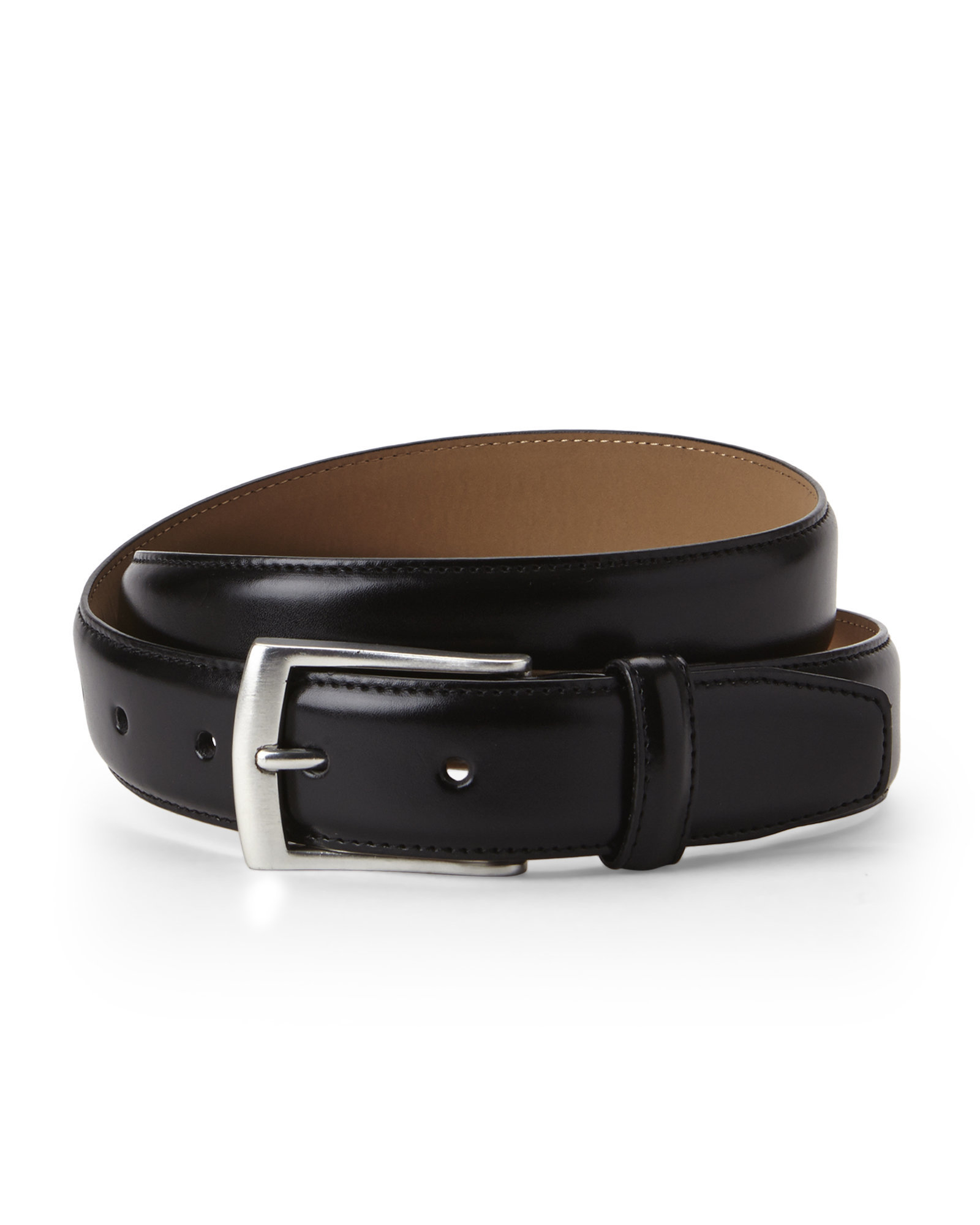 dockers smooth dress belt in black for lyst