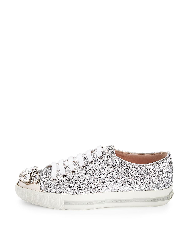 76095c5c9bcc Gallery. Previously sold at: Bergdorf Goodman · Women's Miu Miu Cap Toe Shoes  Women's Miu Miu Glitter Accessories