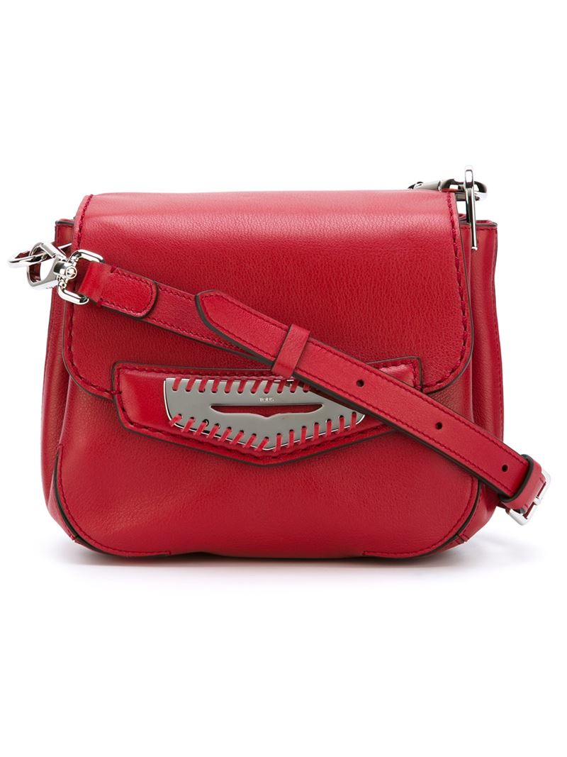 68d1d4e6174 Tod's Mask Leather Cross-Body Bag in Red - Lyst