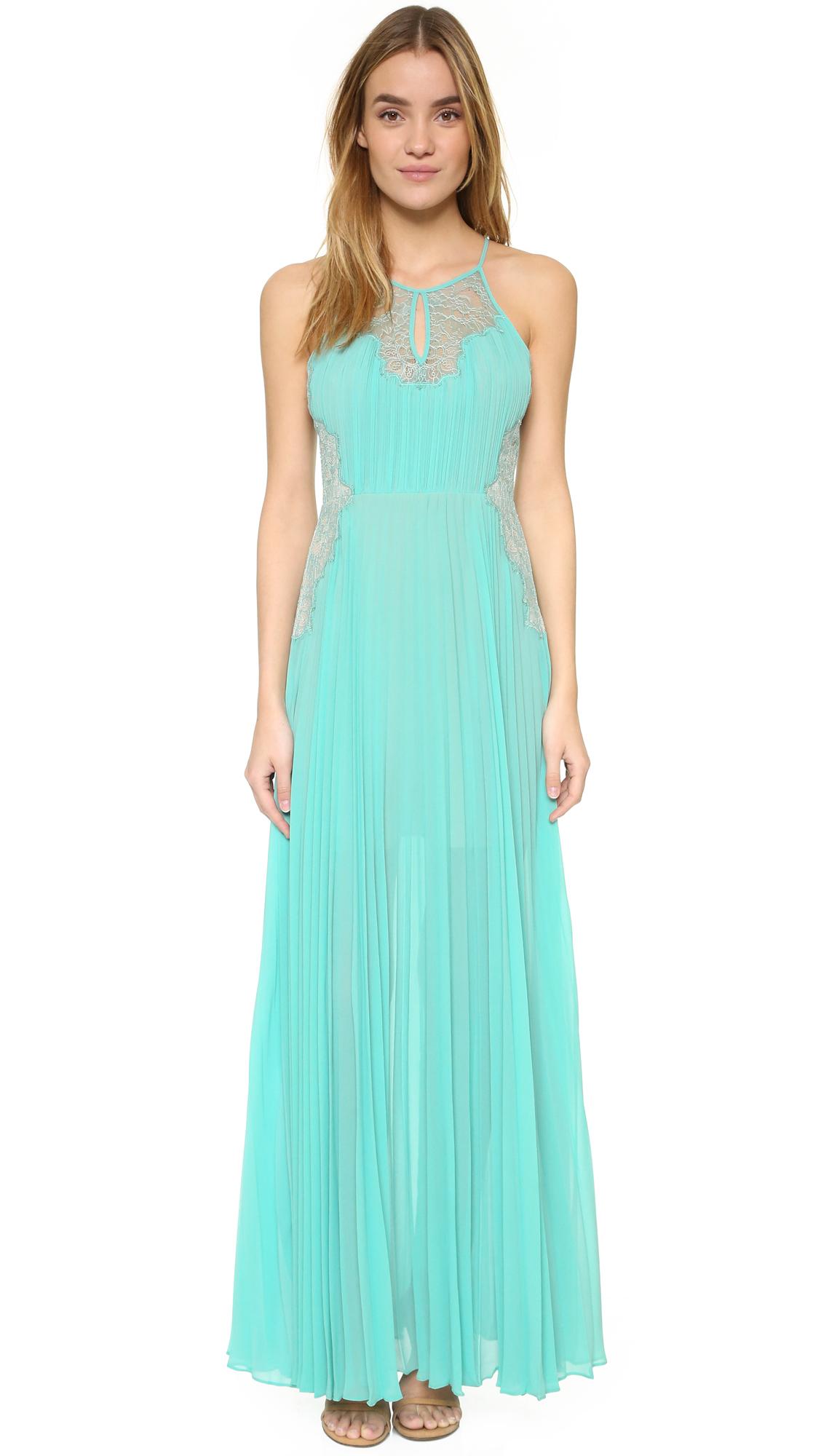 Lyst - Bcbgmaxazria Misty Gown in Blue