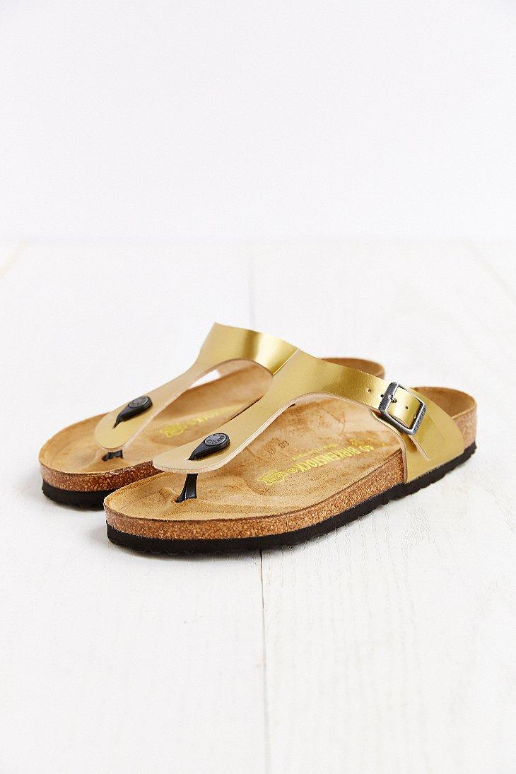 info for 73bcd 5f081 Birkenstock Metallic Gizeh Thong Sandal