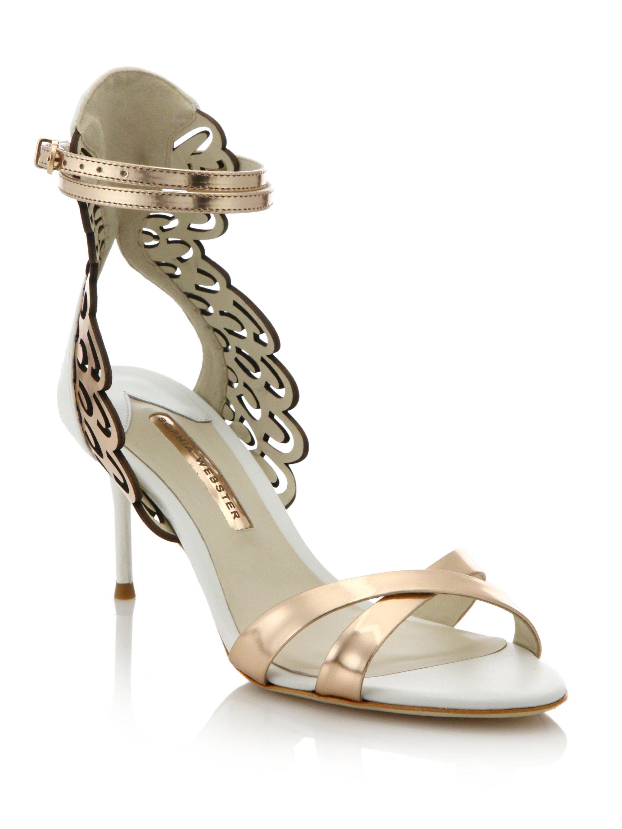 a0f211b057b Sophia Webster Micah Angel Wing Metallic Leather Sandals