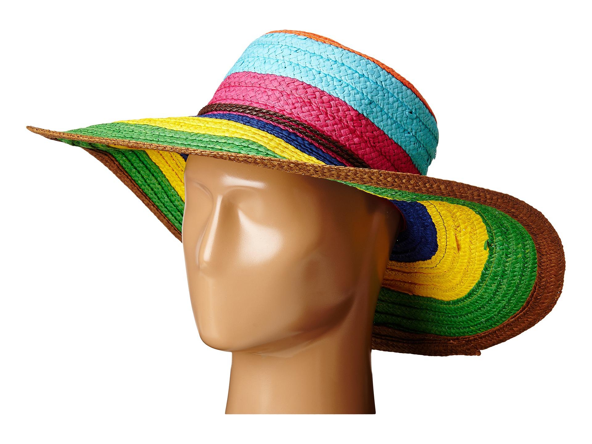 San Diego Hat Company Pbl3071 Striped Sun Brim Hat In