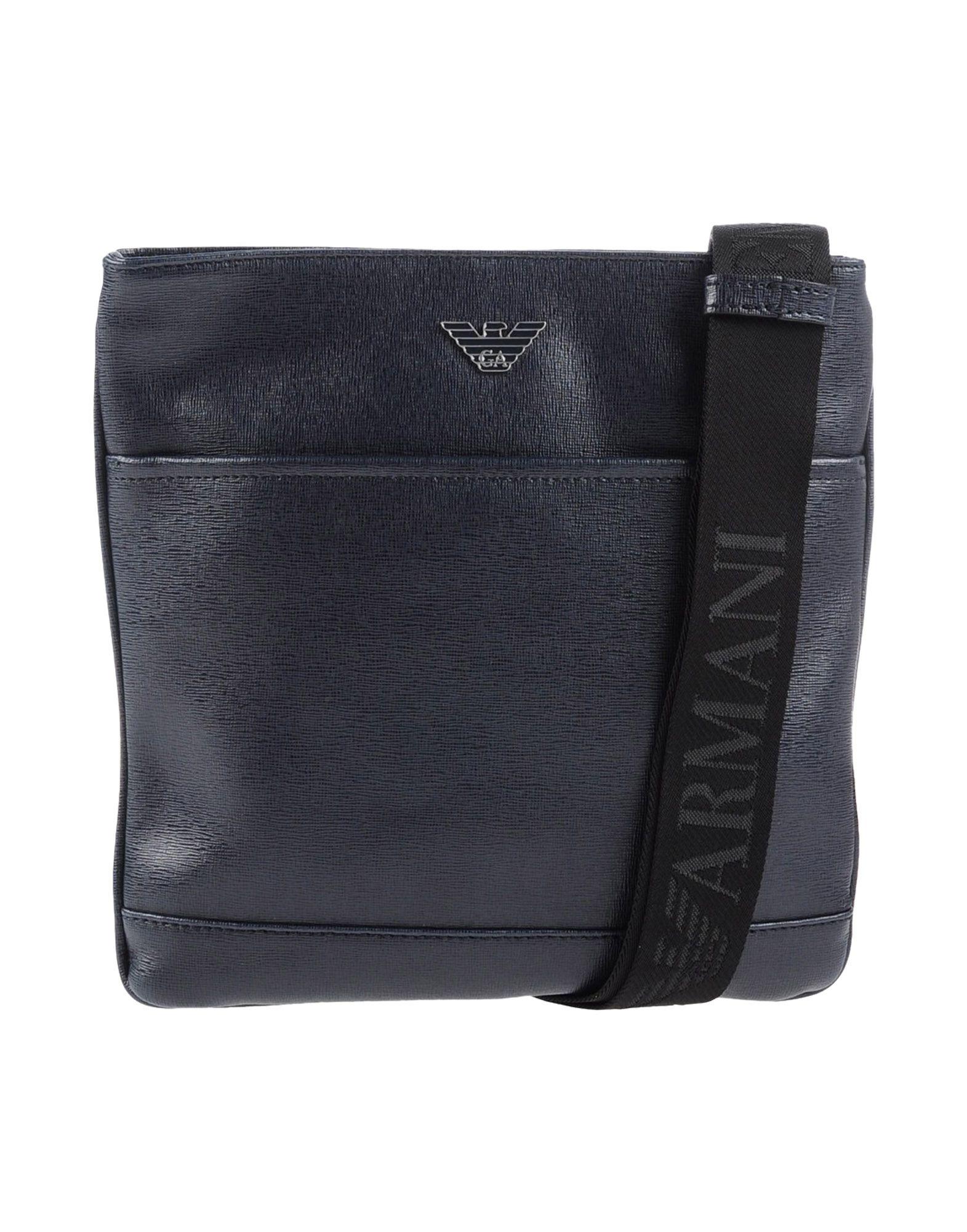 6b09e12685 Emporio Armani Leather Cross-Body Bag in Blue for Men - Lyst