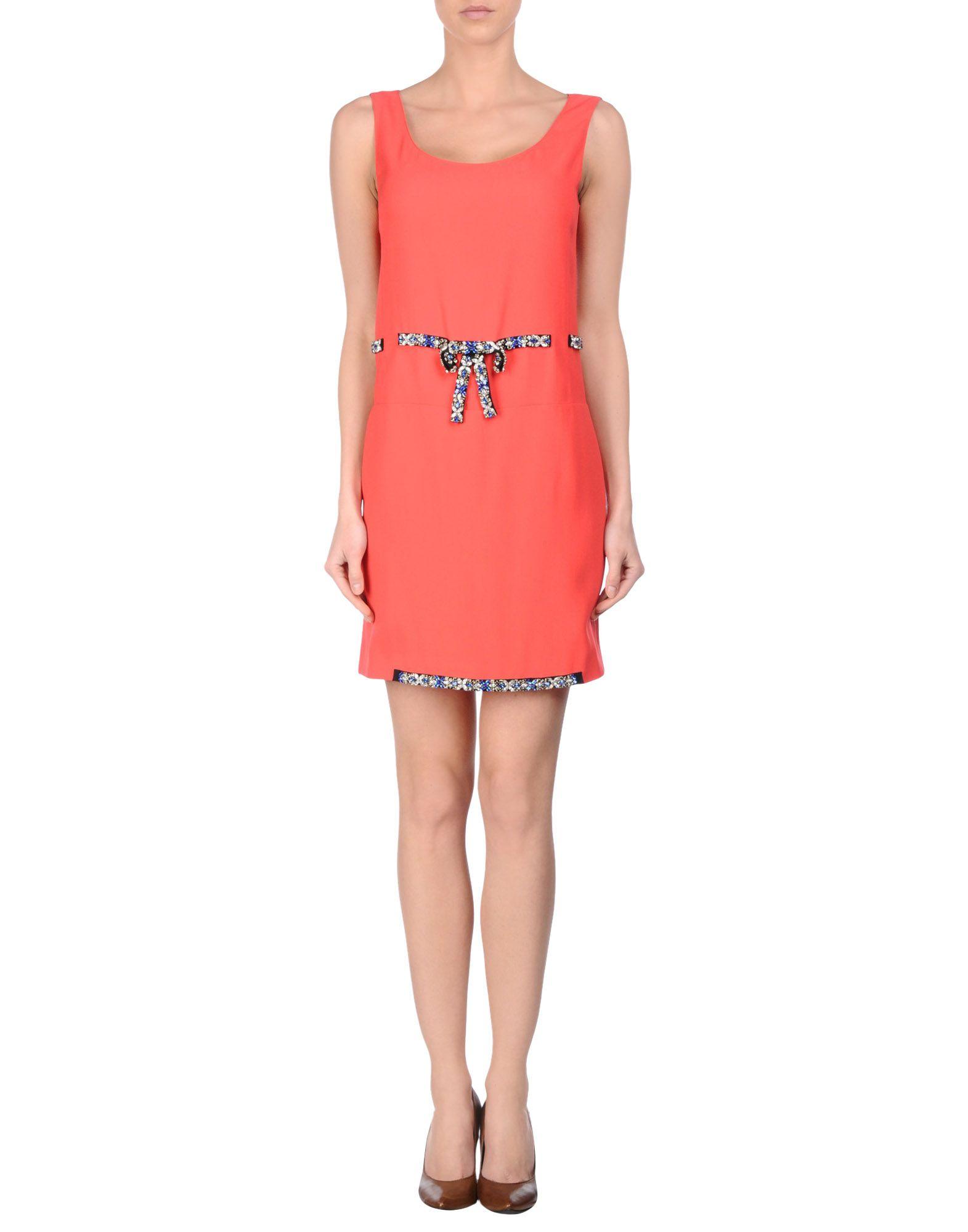 lyst prada short dress in red
