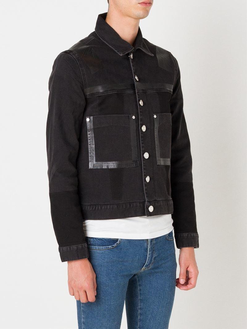 House Of Holland Denim Jacket In Black For Men Lyst