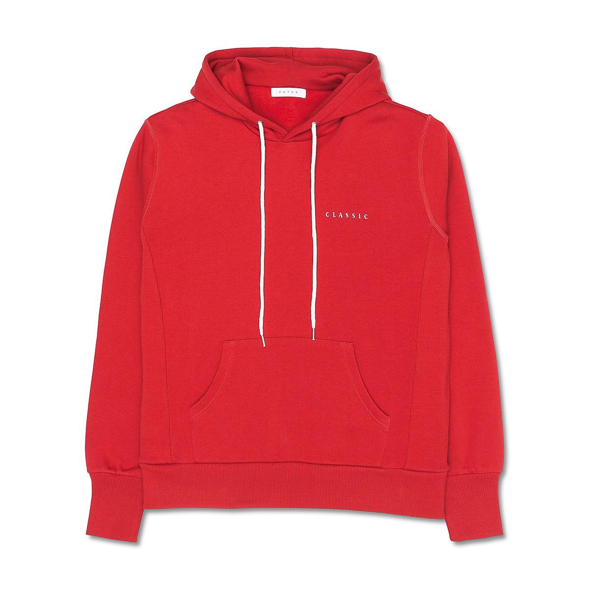 51e02b923 Lyst - Futur Classic Hooded Sweatshirt in Red