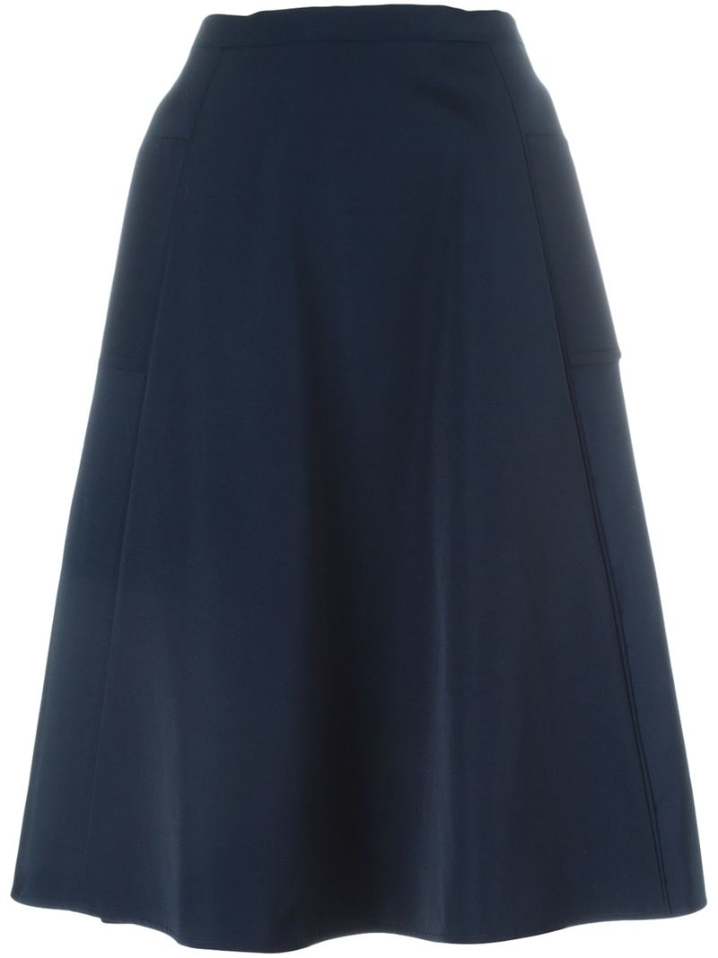 lanvin classic a line skirt in blue save 60 lyst