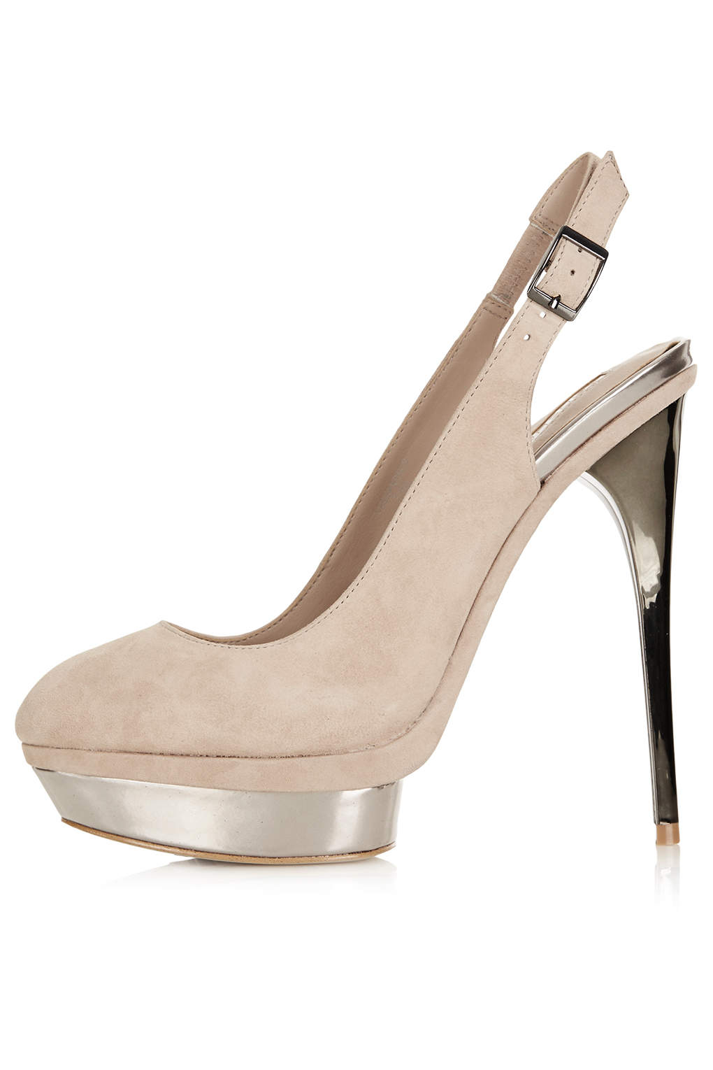 topshop sling back platform shoes in lyst