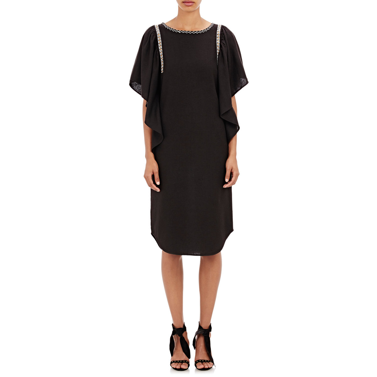 Ulla johnson Women's Betti Tunic Dress in Black | Lyst