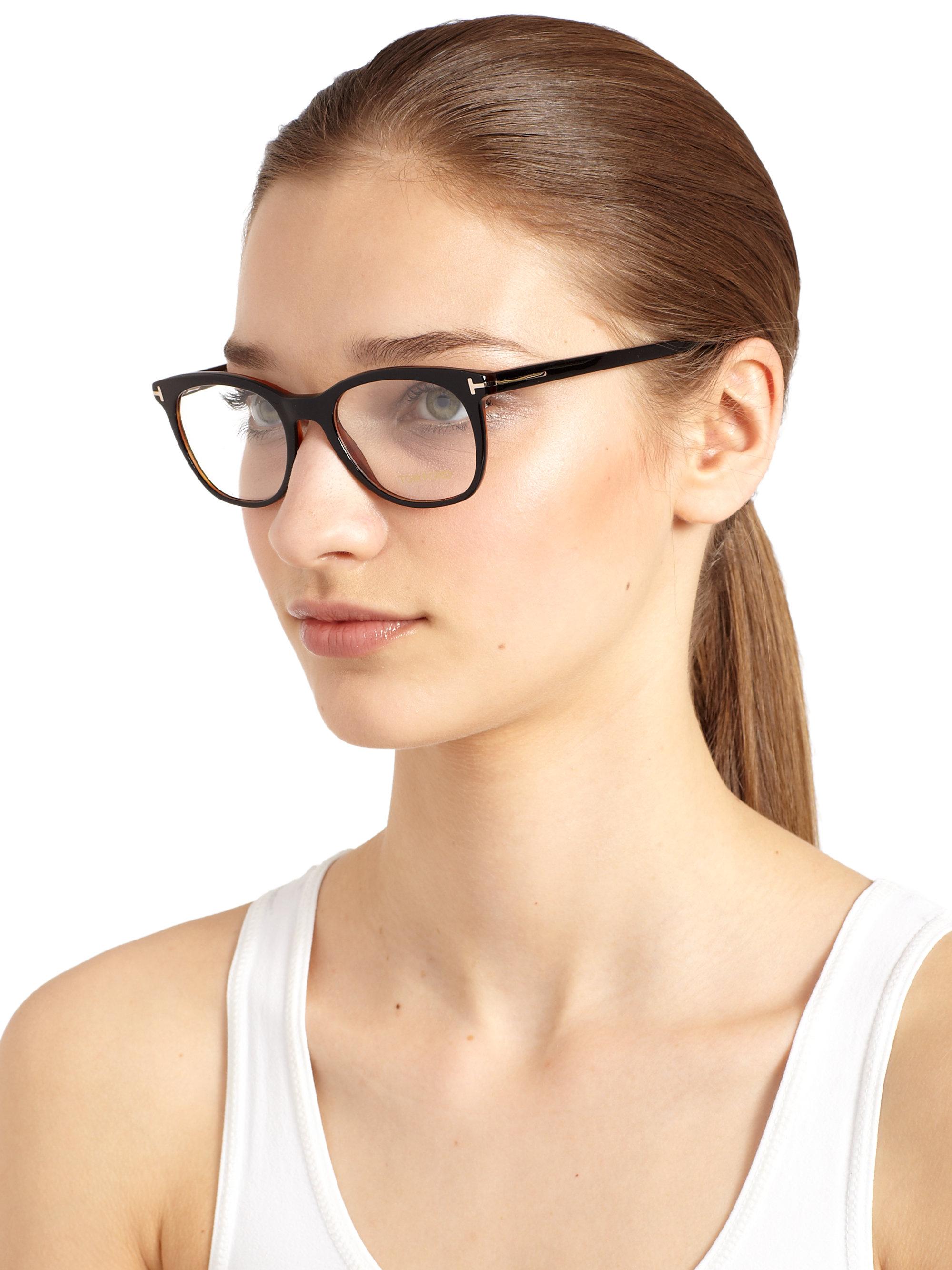 lyst tom ford curved optical glasses in black. Black Bedroom Furniture Sets. Home Design Ideas