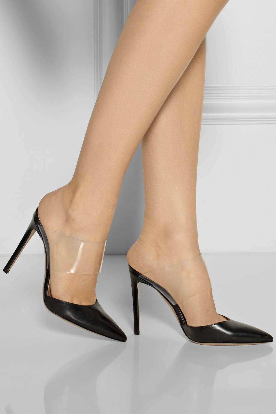 clear strap pointed pumps - Black Gianvito Rossi UbvRFocxOS