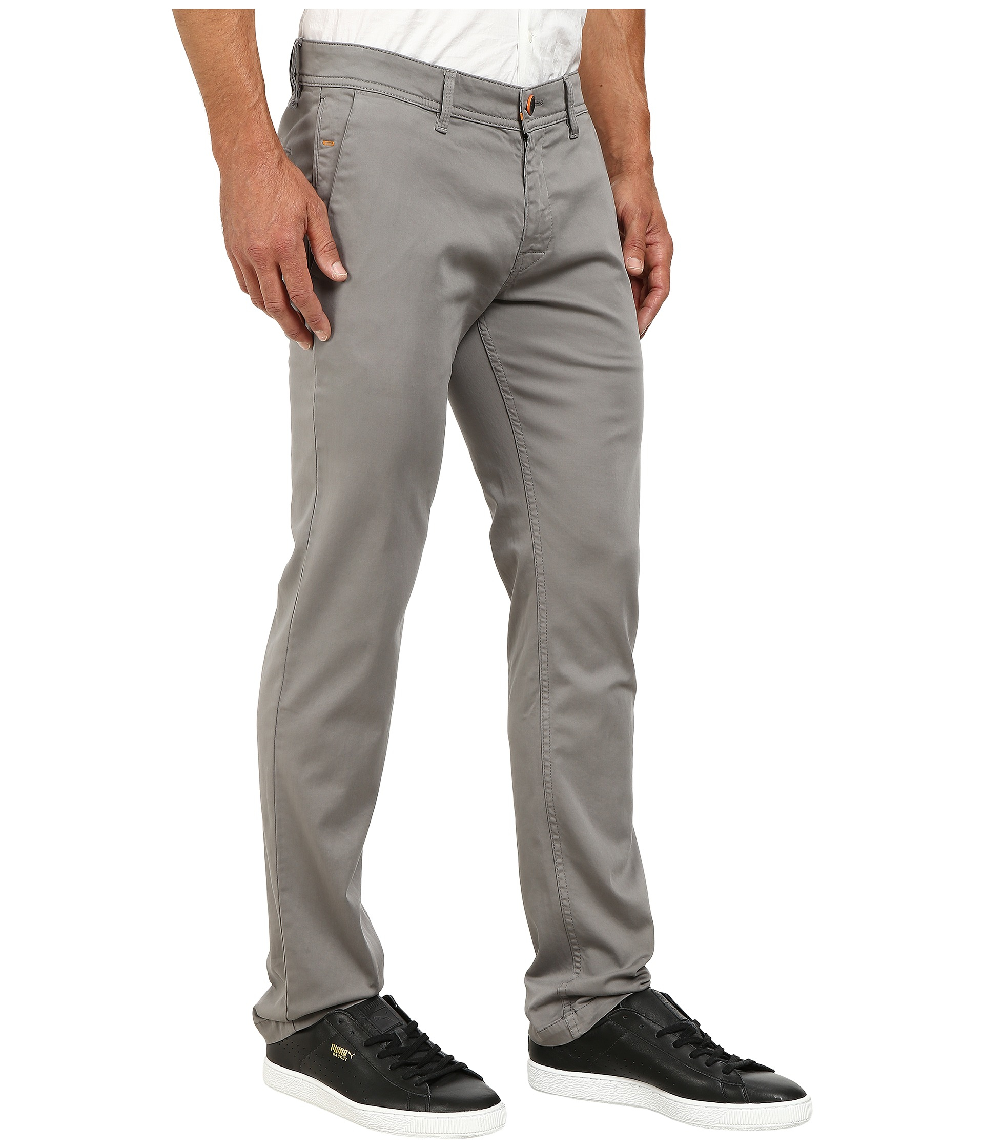 diverse styles up-to-datestyling latest discount BOSS Orange Cotton Schino-slim1-d Slim Fit Chino Trousers in ...