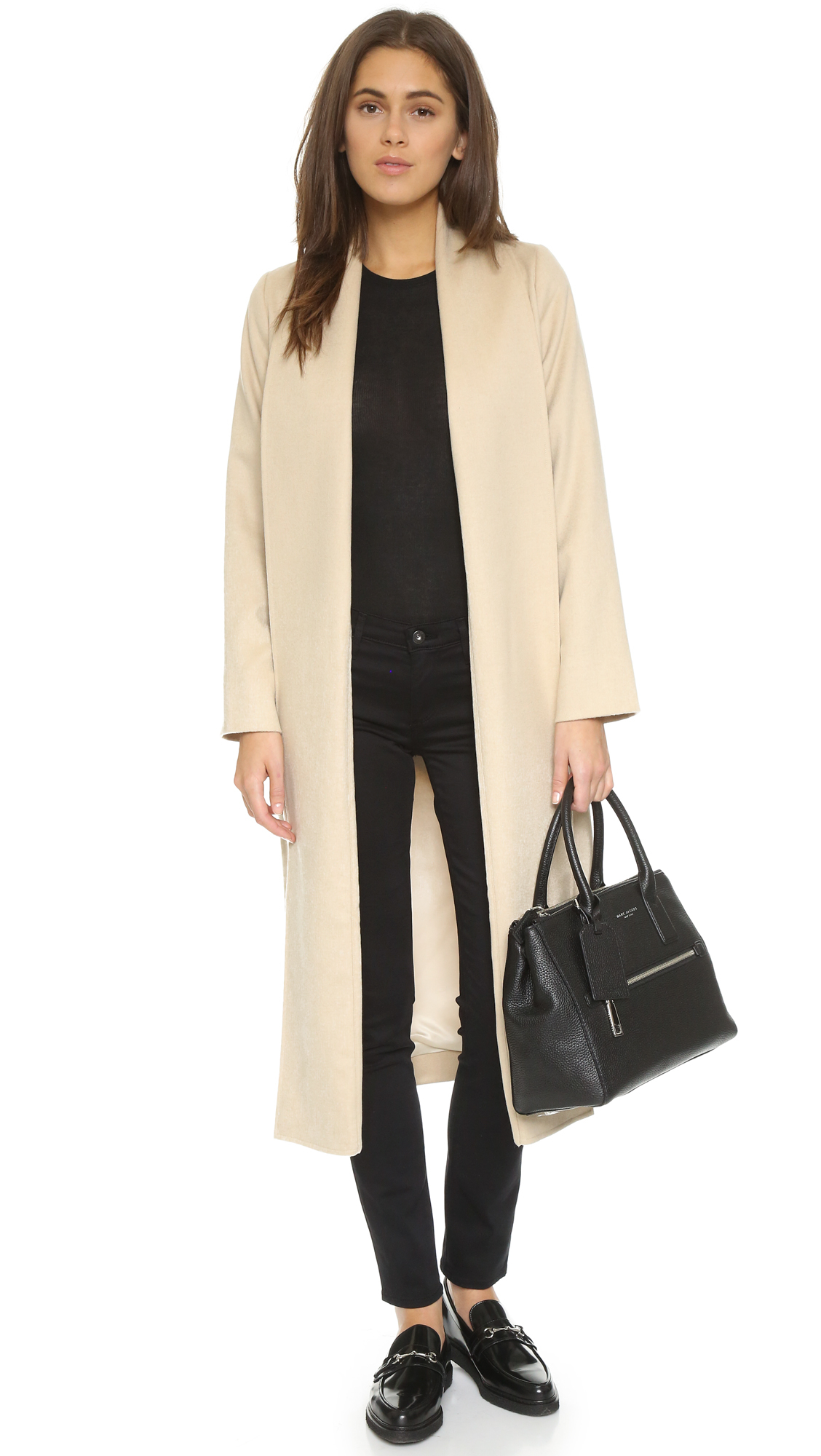 Ayr The Fold Coat In Natural Lyst