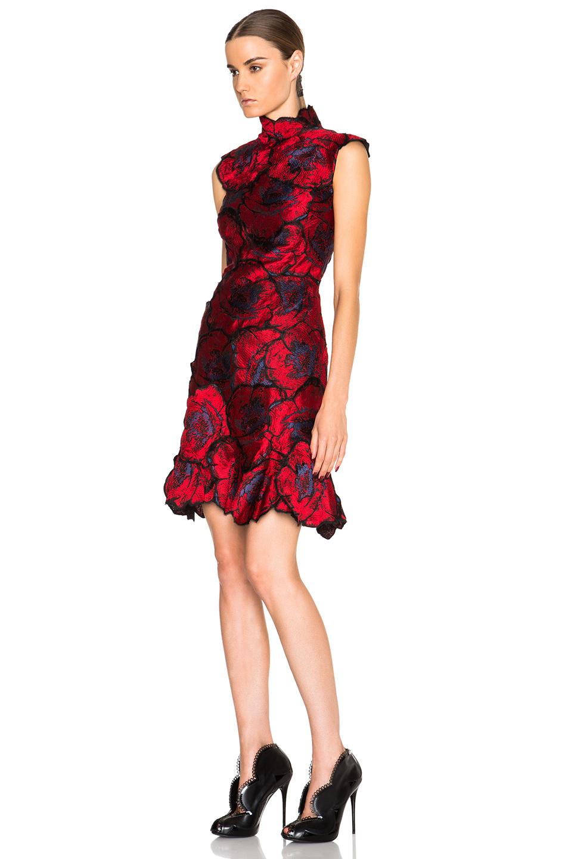 Lyst erdem holly thread work embroidery dress in black