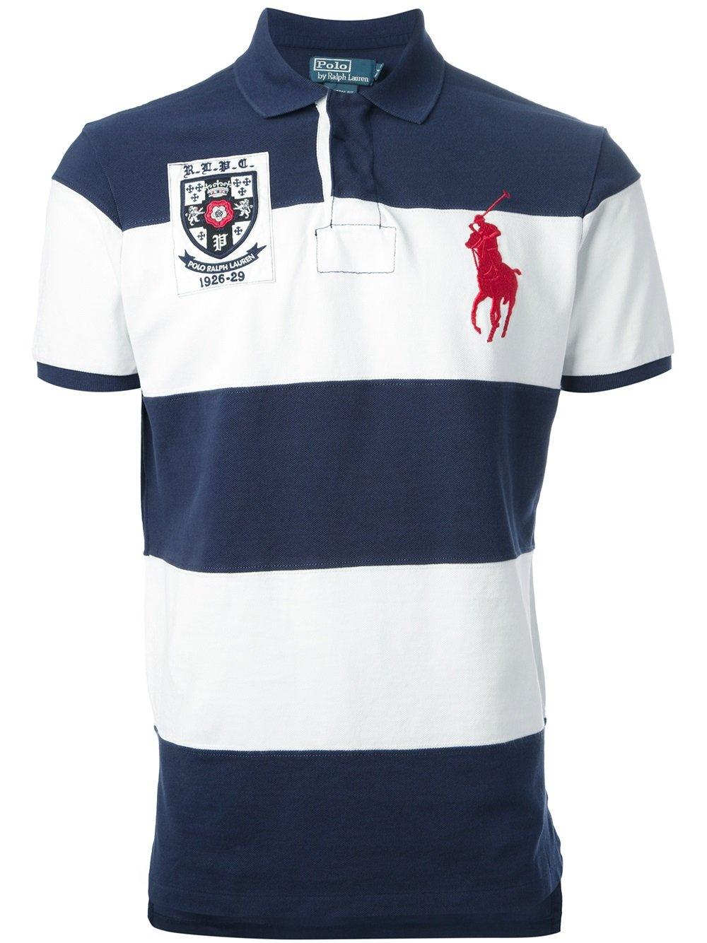 Polo Ralph Lauren Striped Polo Shirt In Blue For Men Lyst