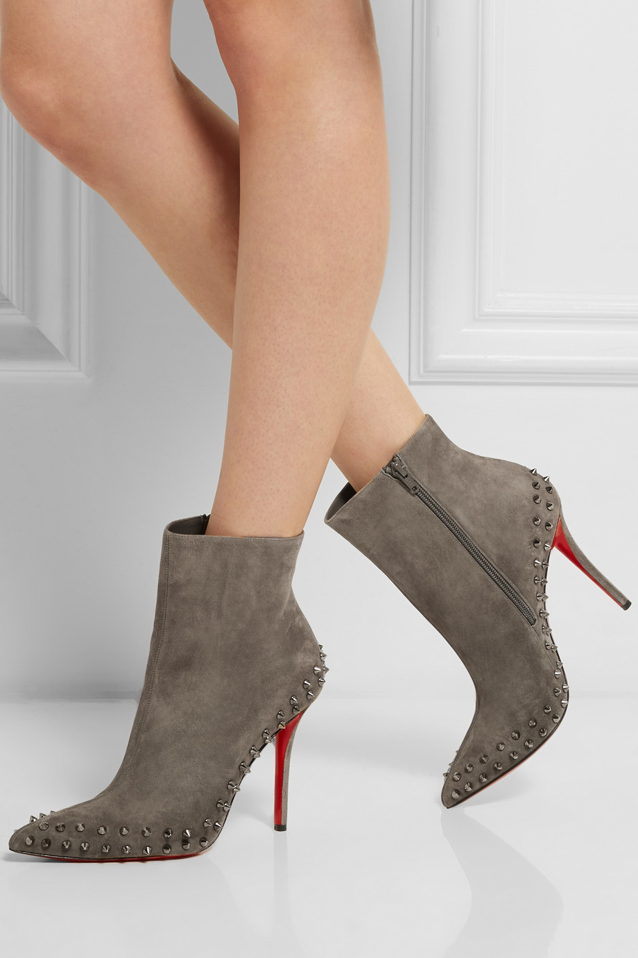 super popular 157c3 10e94 inexpensive spiked louboutin ankle boots fd41a a5baa