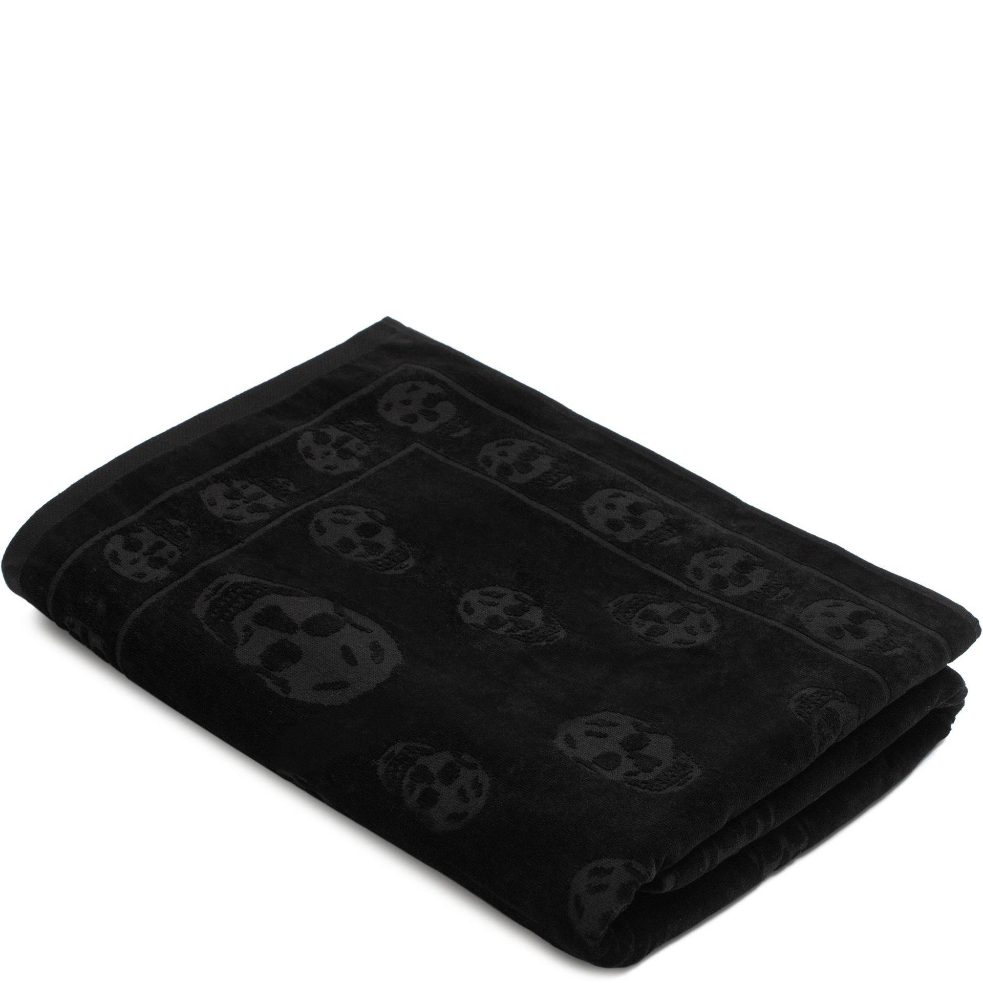 Alexander mcqueen Tonal Skull Towel in Black for Men