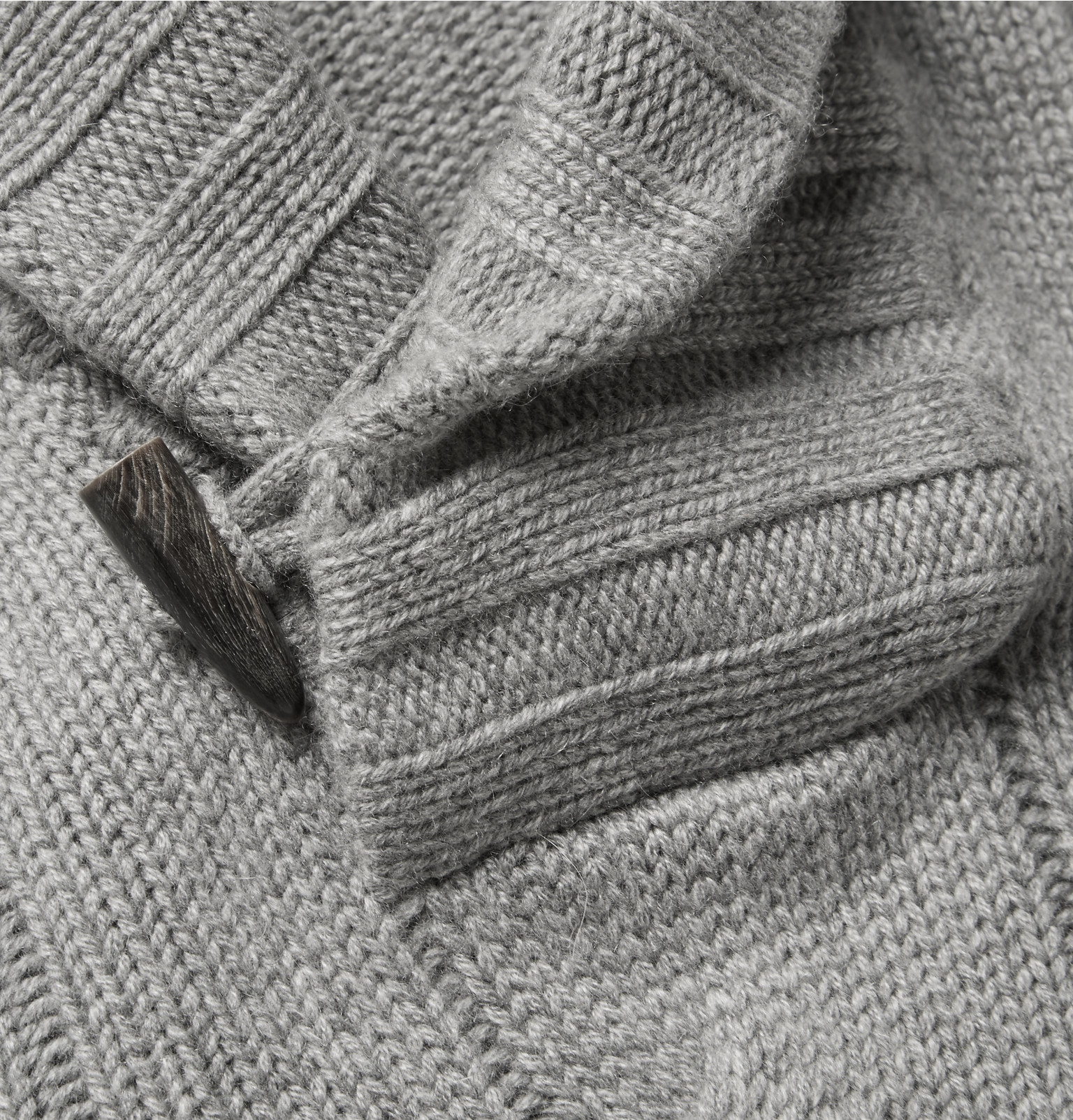 bbcc3451d56a Loro Piana Snowfall Shawl-collar Cable-knit Baby Cashmere Sweater in ...