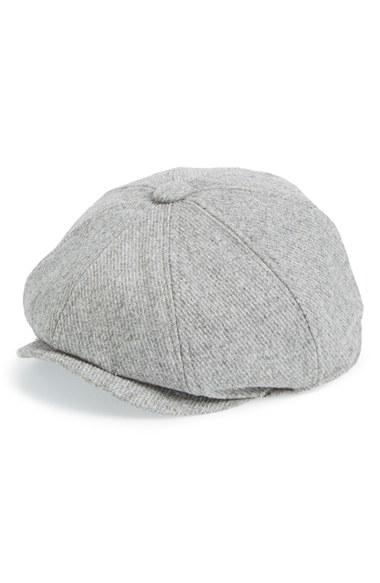 86013a47cb17c8 TOPMAN 'baker Boy' Driving Cap in Gray for Men - Lyst