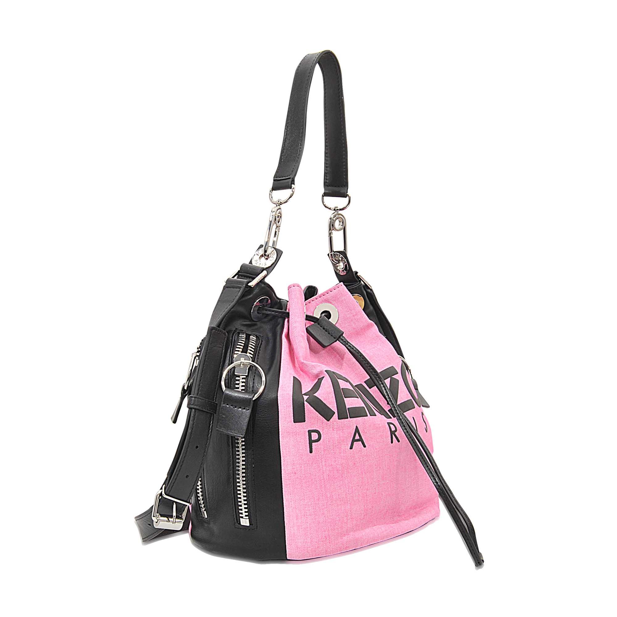 e0054ae386 KENZO Kanvas Bucket Bag in Pink - Lyst
