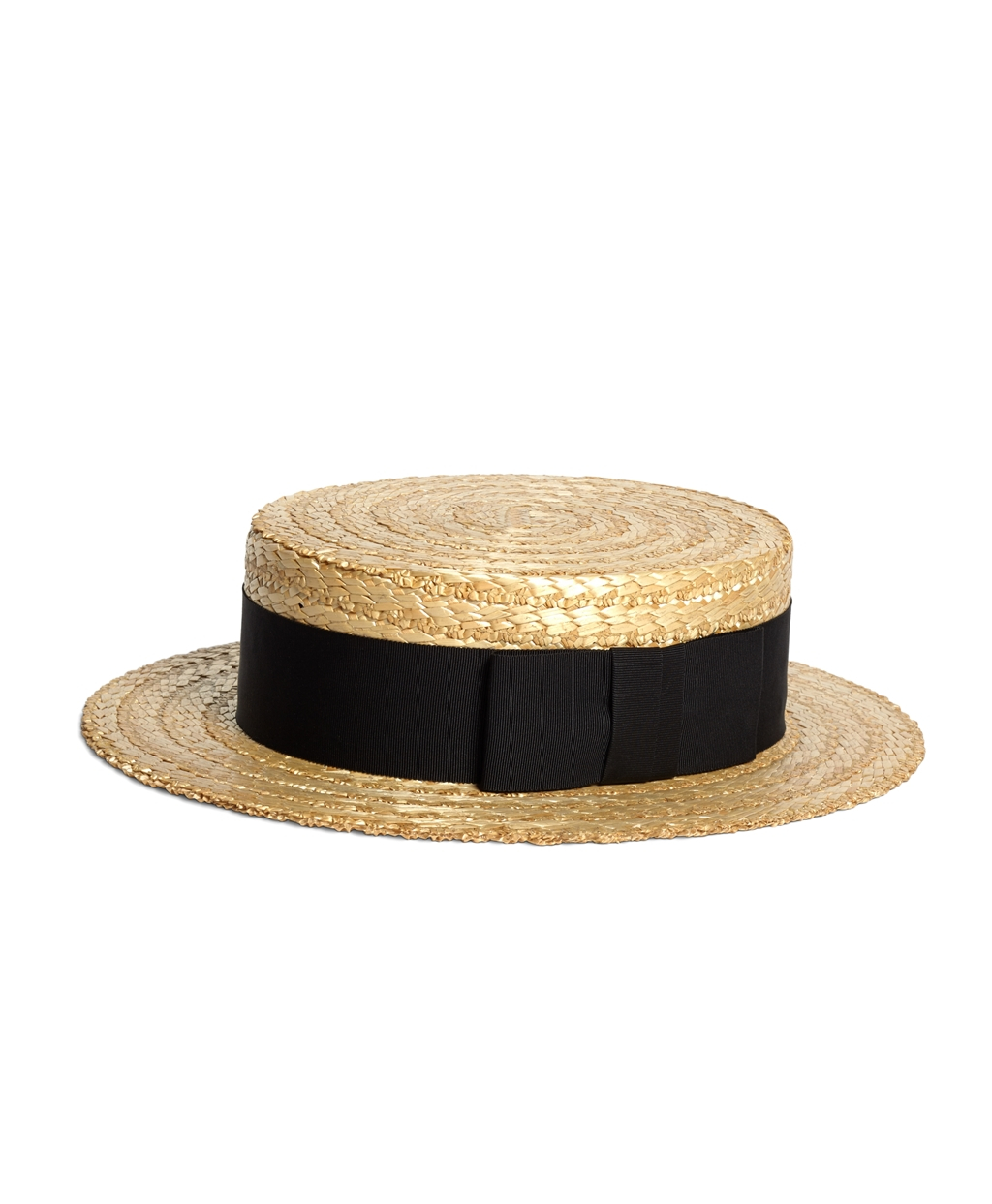 Brooks Brothers Lock Amp Co Straw Boater Hat With Black