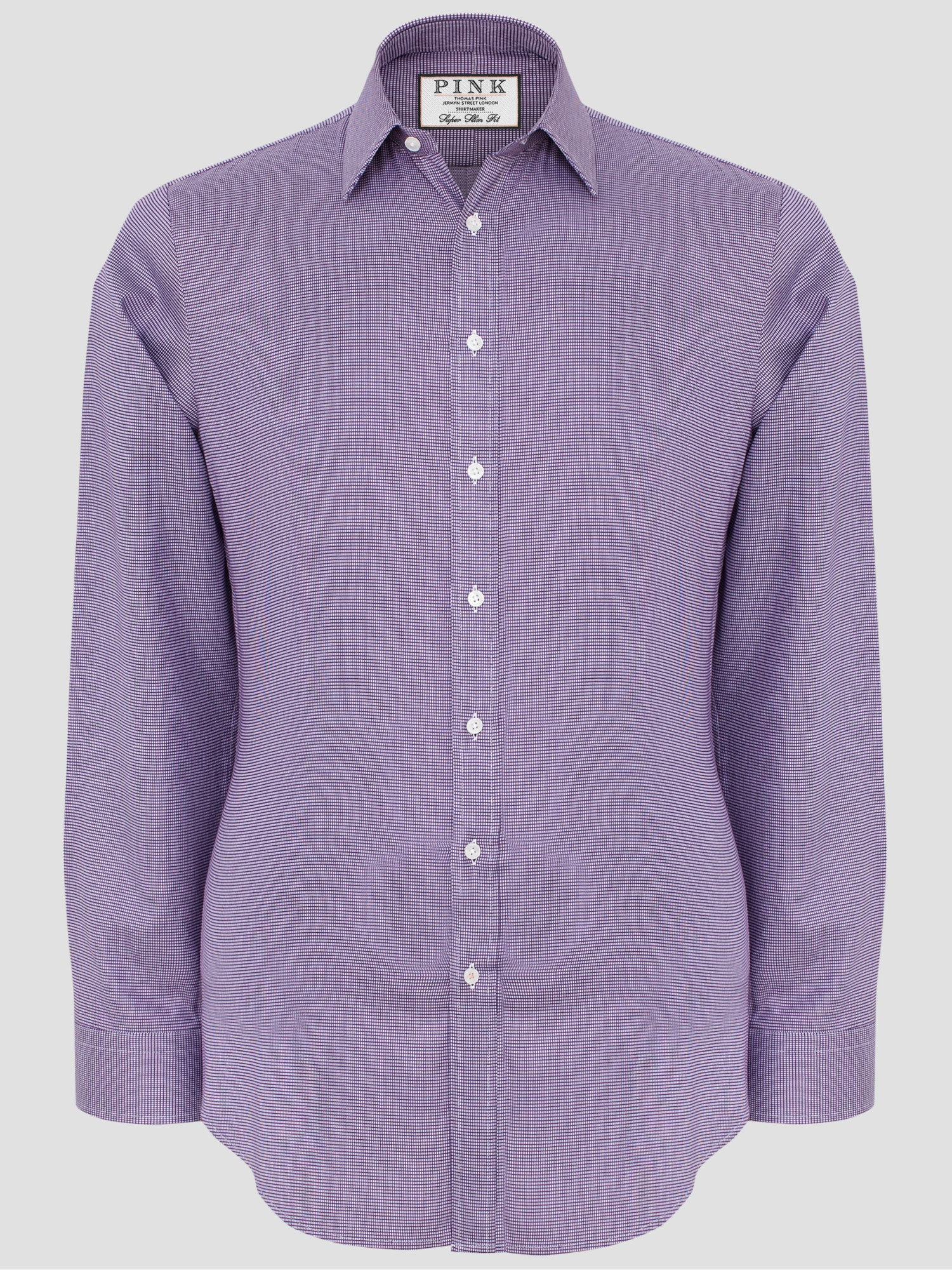 Thomas Pink Hartley Textured Super Slim Fit Shirt In White
