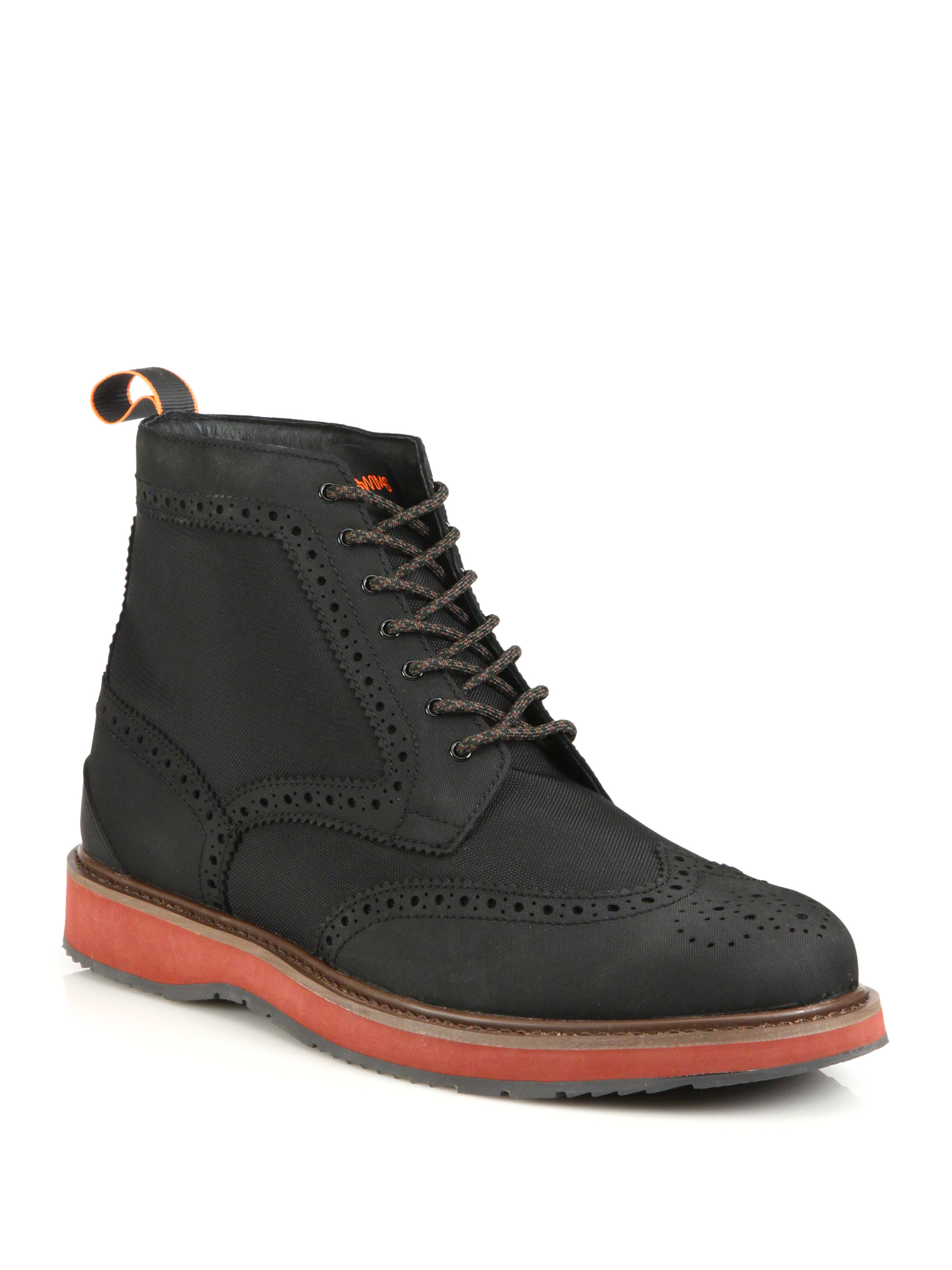 Swims Barry Brogue Lace Up Boots In Black For Men Lyst
