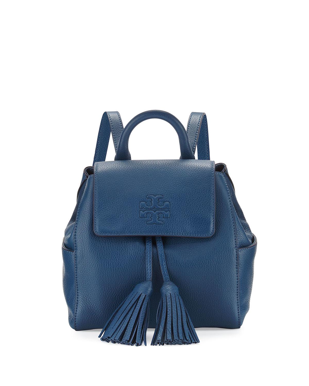 392ad88aa86 Tory Burch Blue Thea Mini Leather Backpack