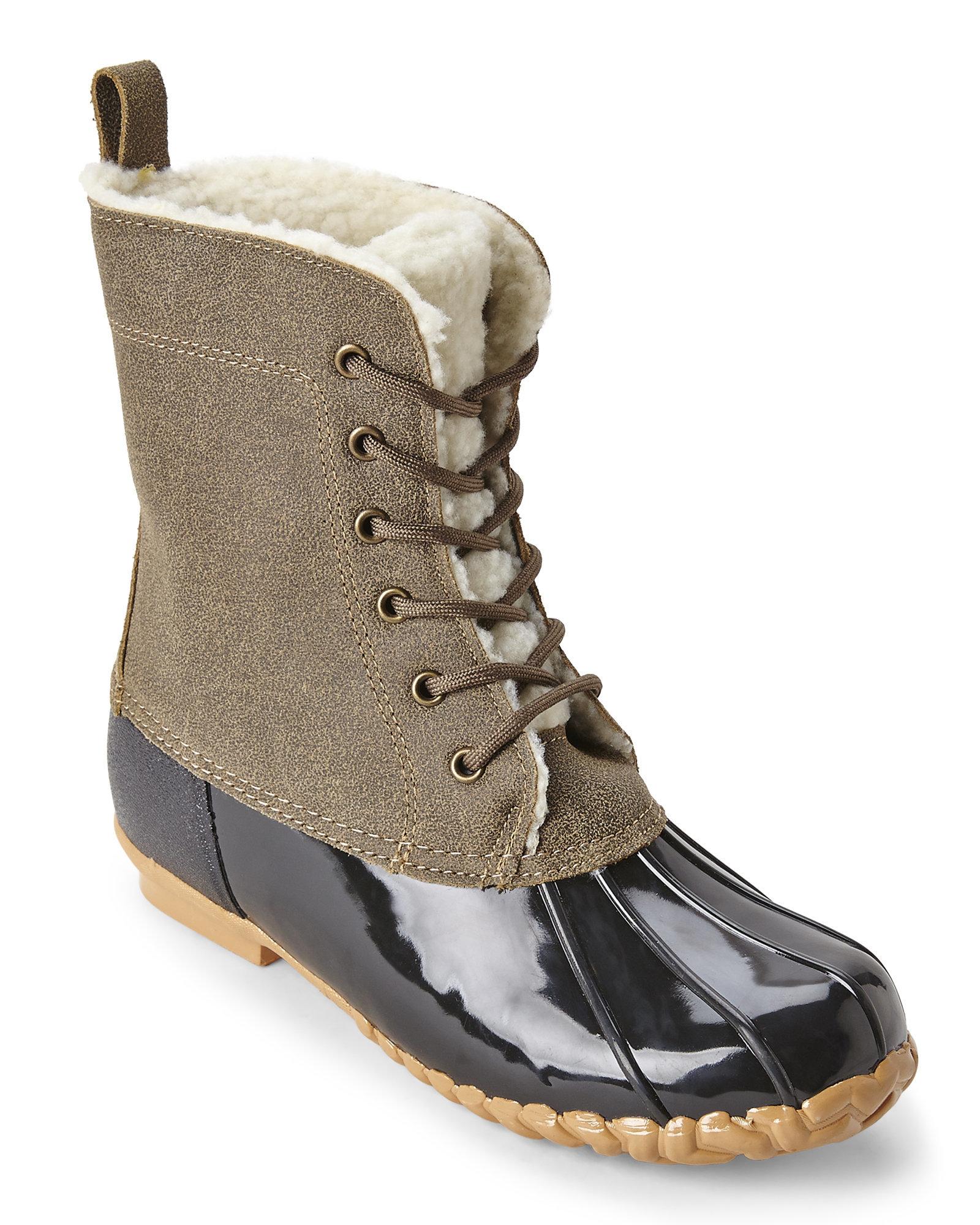 Lyst Sporto Grey Amp Black Dede Duck Boots In Gray