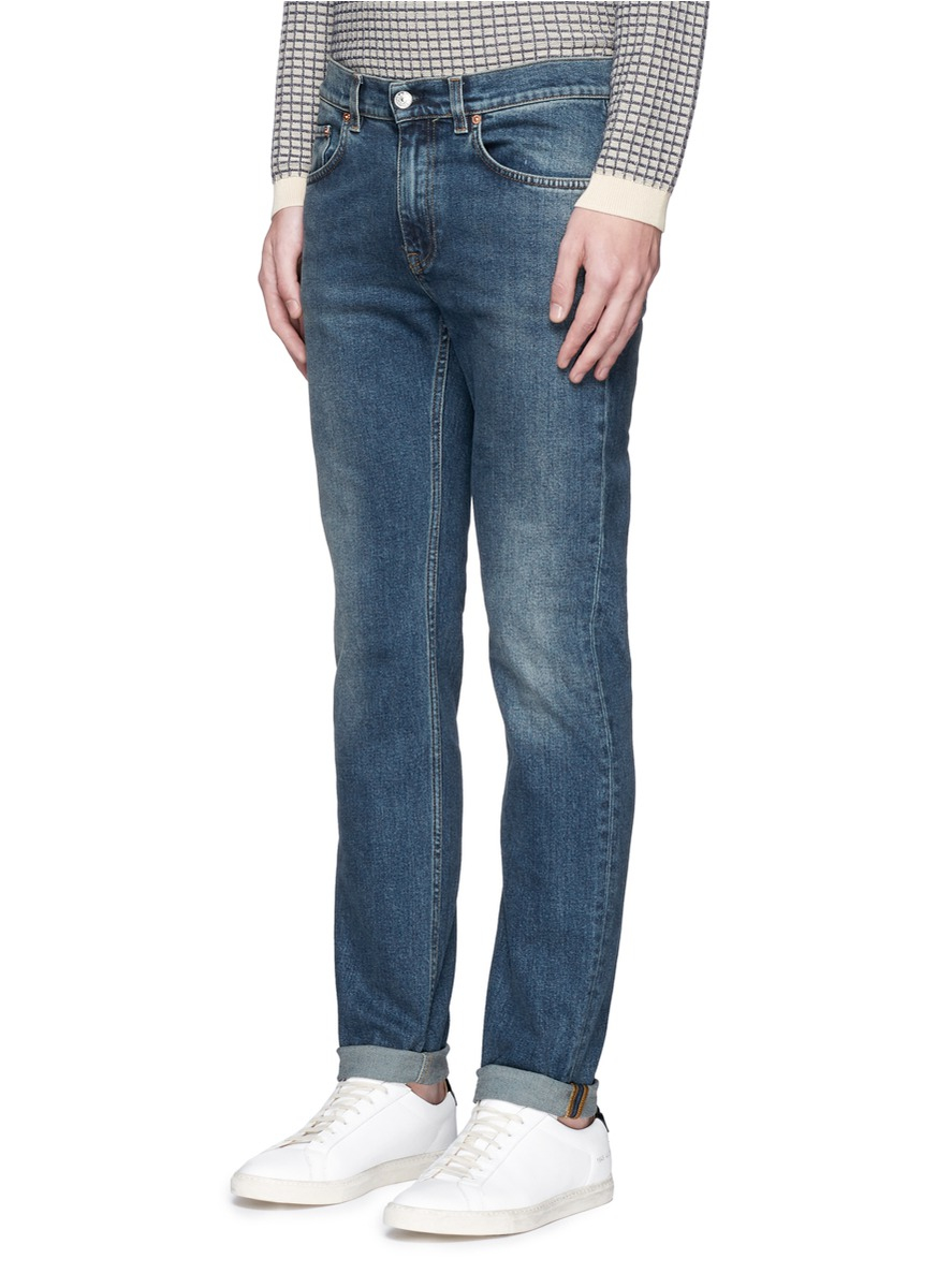 Acne Studios Denim 'ace' Stretch Vintage Skinny Jeans in Blue for Men