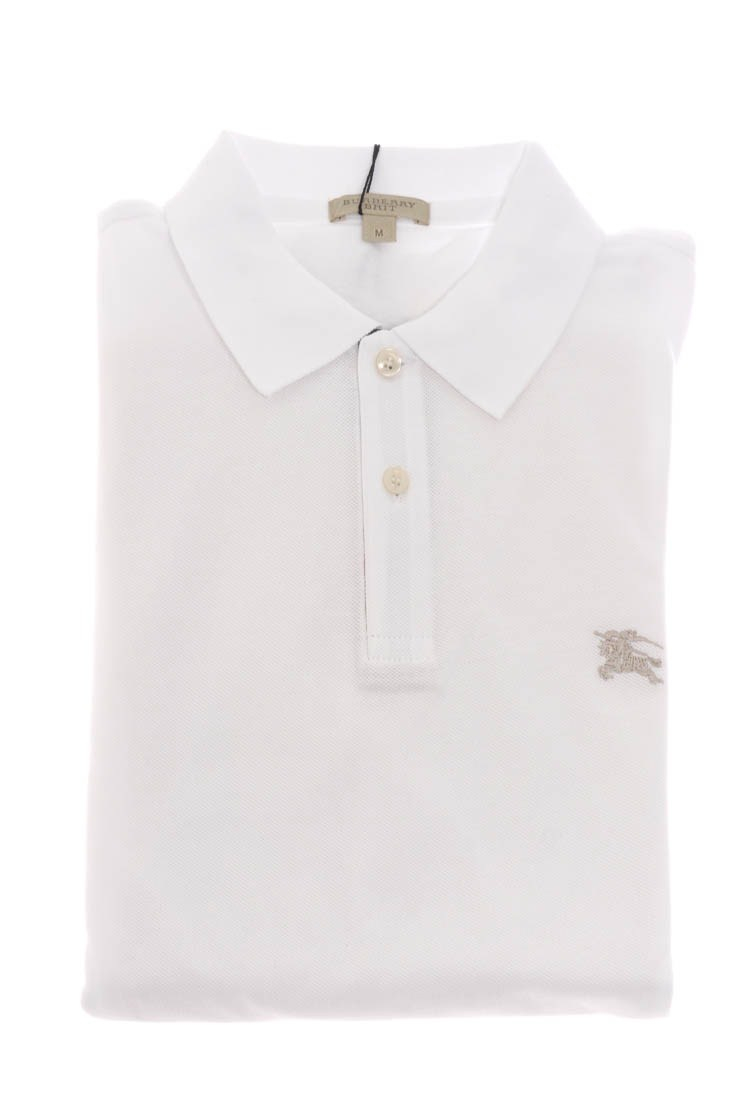 Burberry Brit Haymarket Check Polo Shirt In White For Men
