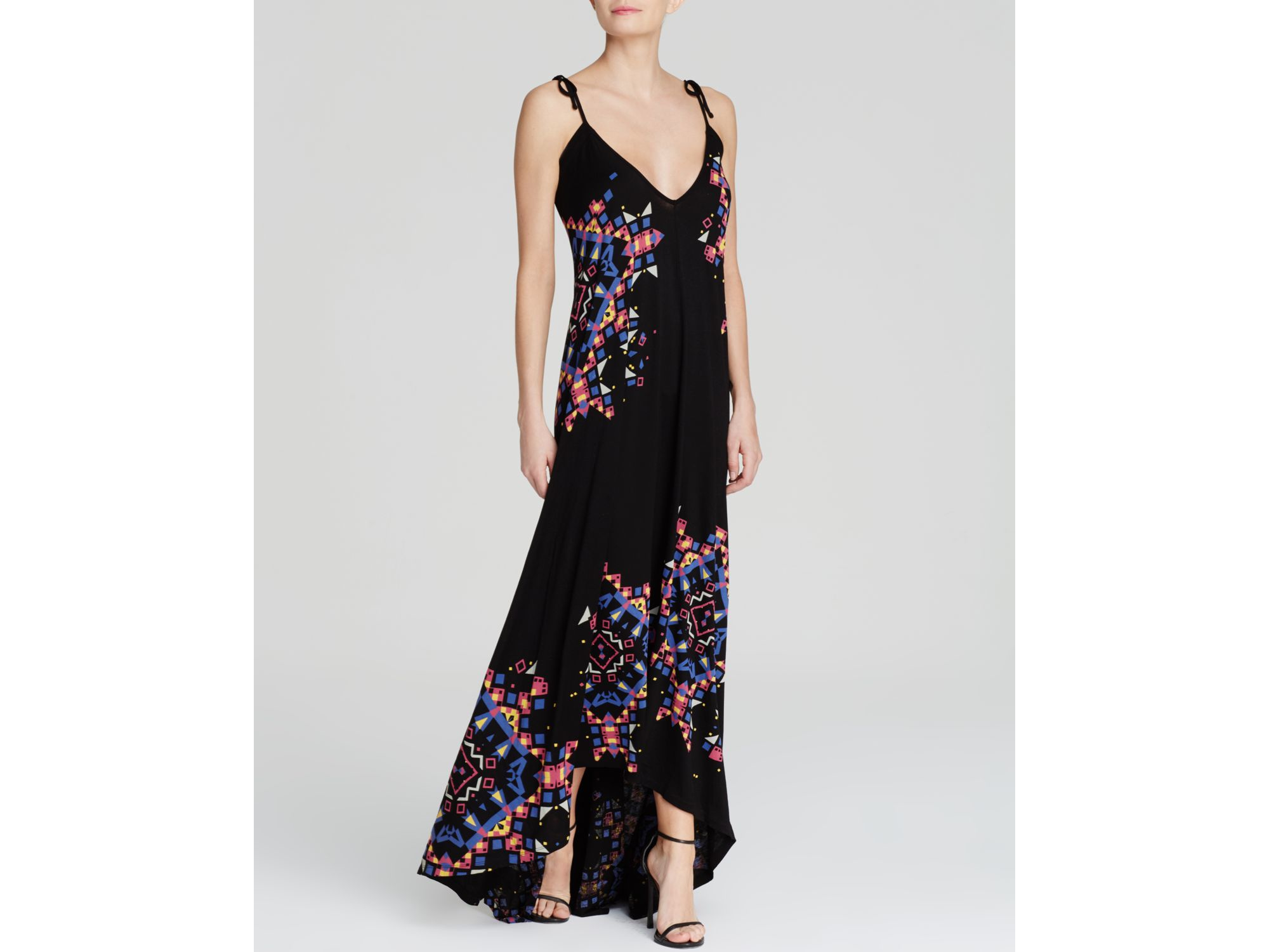 Floral Print Maxi Dress - Nocturnal French Connection v6cMYNz