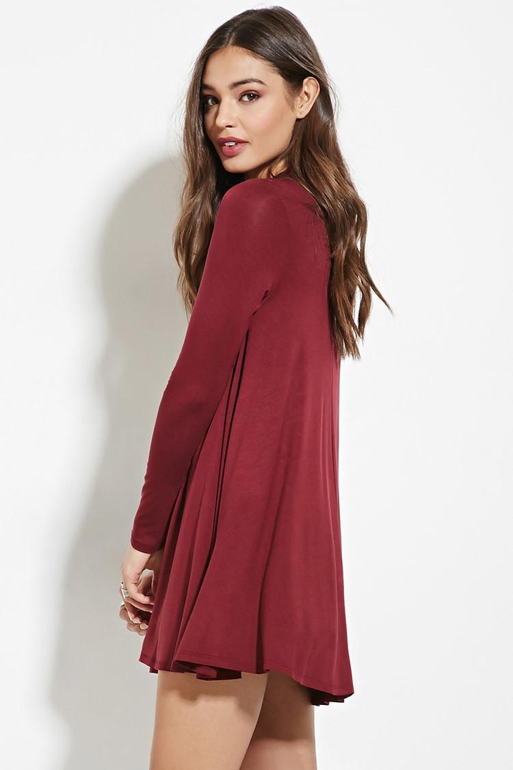 Purple Fringe Dress Forever 21