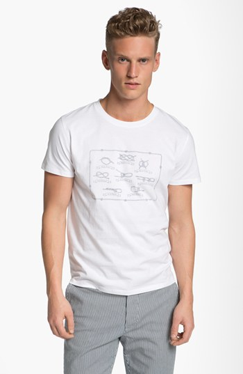 Lyst a p c 39 knot 39 graphic t shirt in white for men for Apc white t shirt