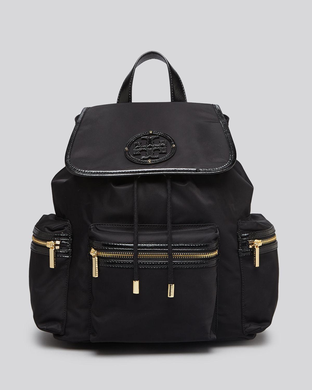Tory Burch Nylon Billie Backpack In Black Lyst