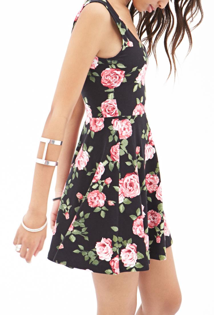 Lyst Forever 21 A Line Floral Skater Dress
