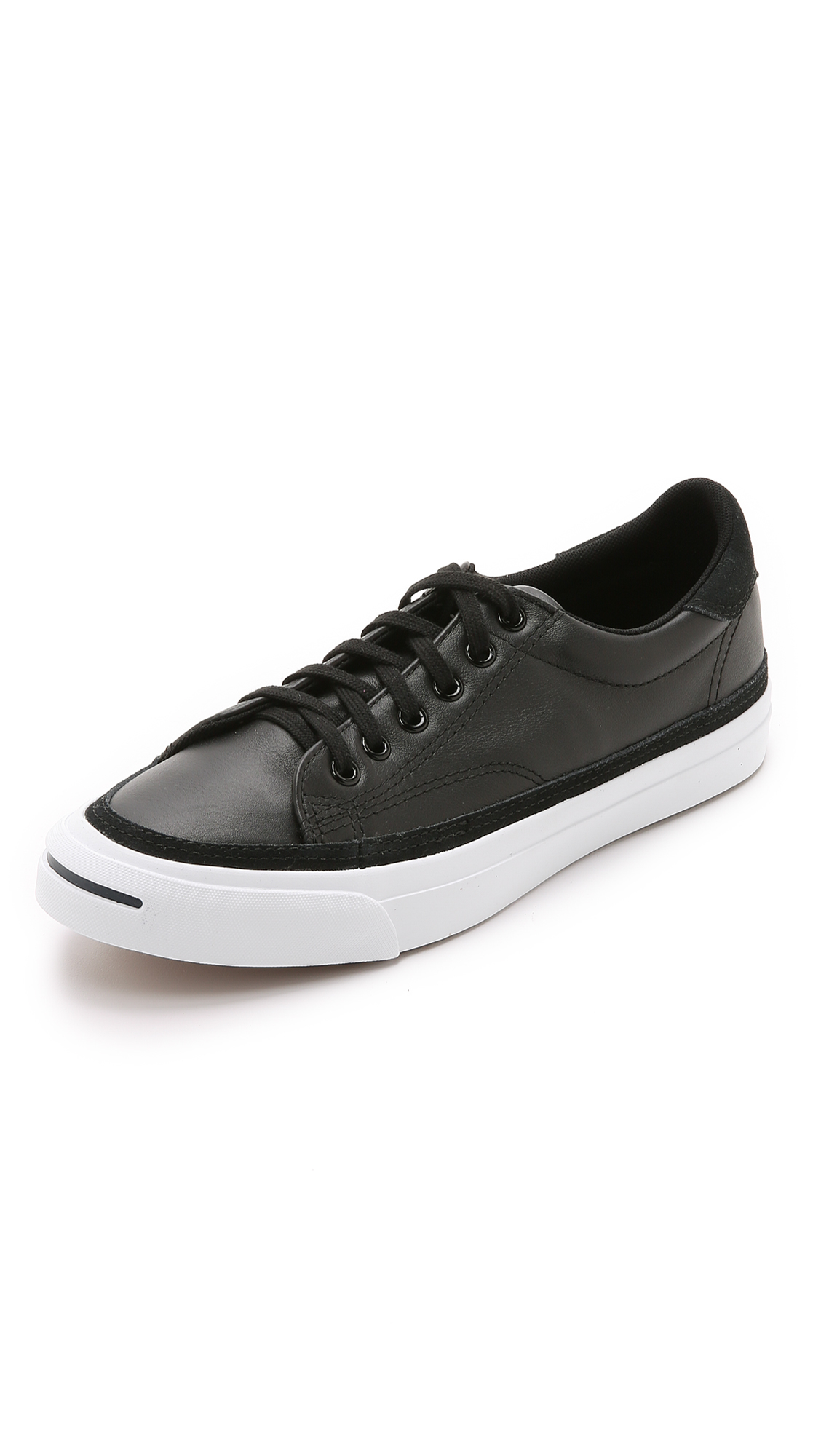Converse Jack Purcell Ii Leather Sneakers In Black For Men